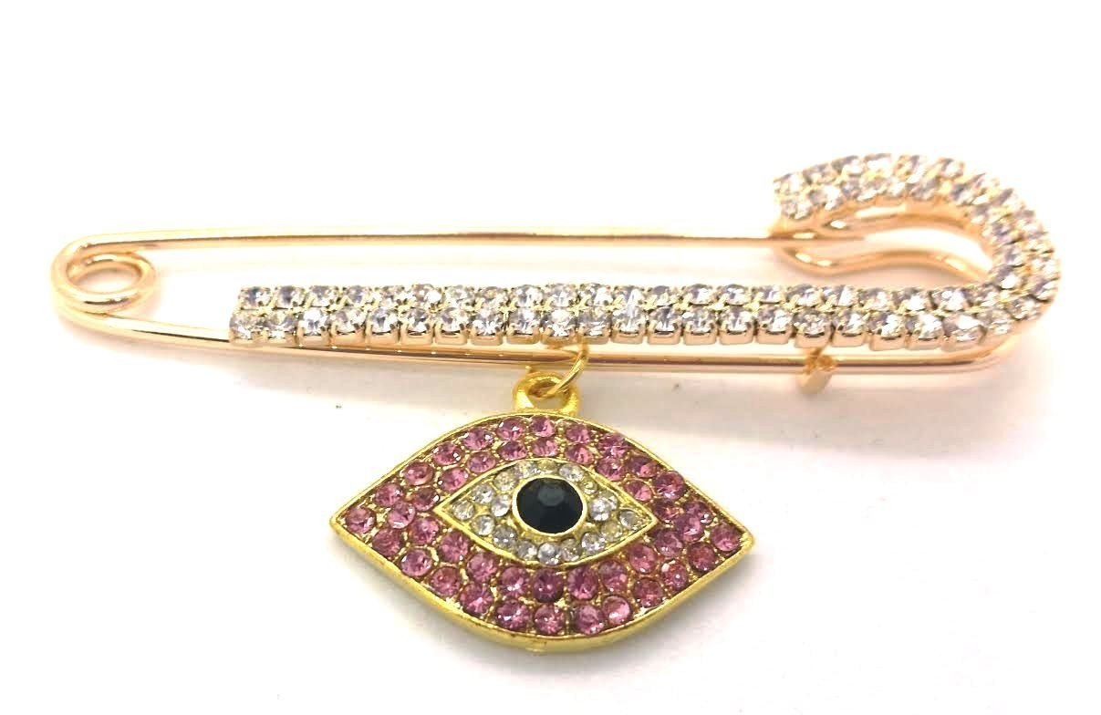 Pink Evil Eye Pin for Baby