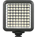 Godox 64 LED Video Light, On Camera LED Panel Light Dimmable,Continuous Portable Video Lighting for Camera Camcorder DSLR
