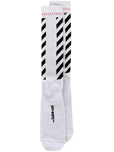 OFF-WHITE - Calcetines - para mujer, color plateado, talla UNI IT - Marke Größe UNI: Amazon.es: Zapatos y complementos