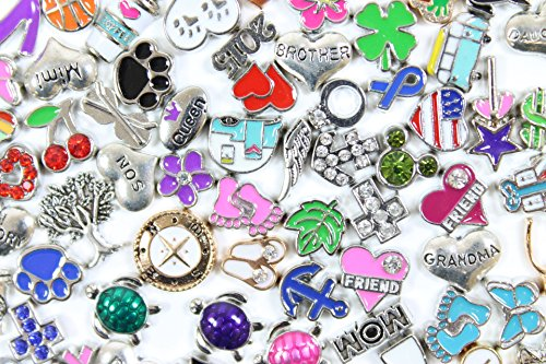 Assorted Floating Charms for Living Glass Lockets (Lot of 25) (Comes with Free How to Live Stress Free - How Customize Glasses To