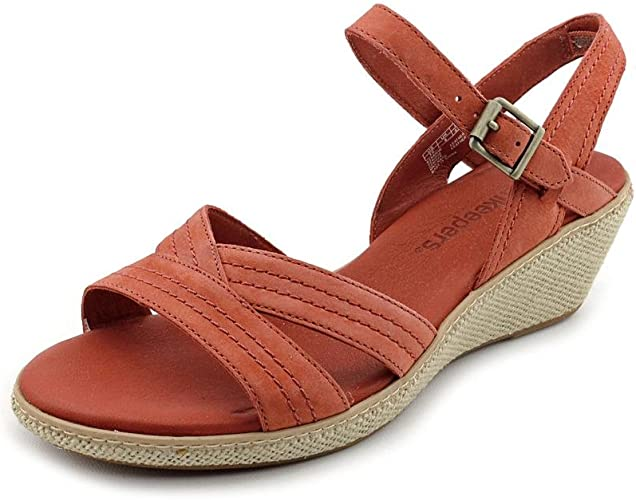 historia cine Abrumador  Timberland Earthkeepers Whittier Womens Red Wide Wedge Sandals Shoes UK 8:  Amazon.co.uk: Shoes & Bags