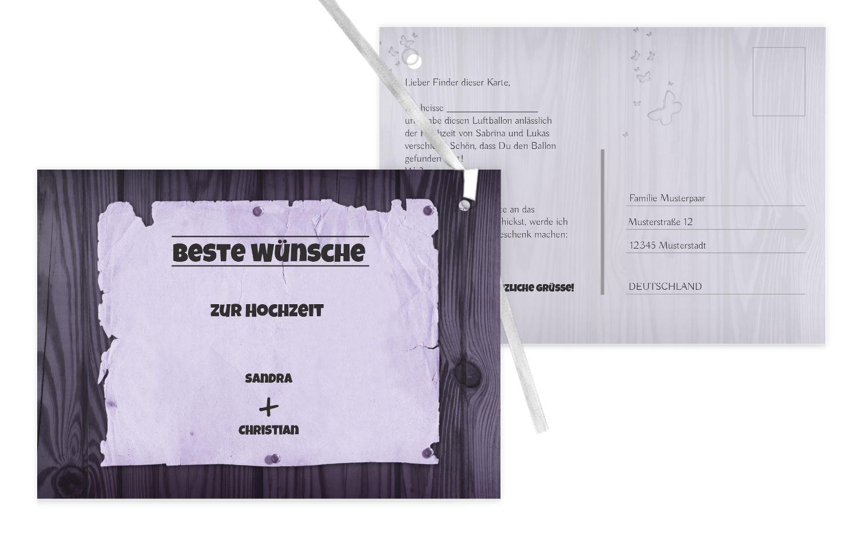 Ballonkarte Steckbrief, 100 Karten, braunmatsch B07CQFRVP4 | Erste Klasse in seiner Klasse  | Ausgezeichnete Leistung  | Neues Design