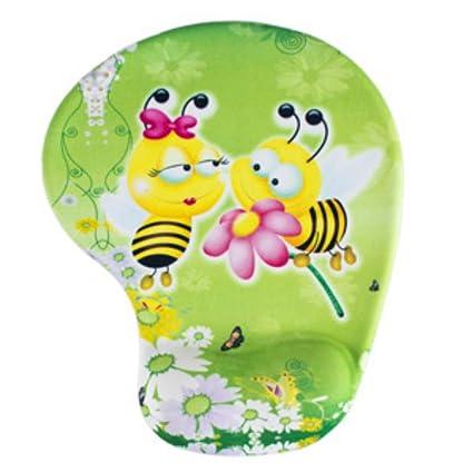 akoak Creative Lovely Animal Skid Resistencia Módulo de espuma suave cómodo almohadilla de ratón con reposamuñecas