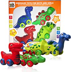 3 Bees & Me Dinosaur Toys for Boys and Girls - Toddlers and Older Kids - Set of 4 Toy Dinosaurs