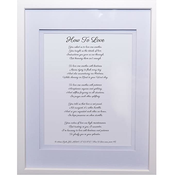 Love Poems by Anna Szabo #PoemsFromGod how To Love framed poetry for Prayer Hallway