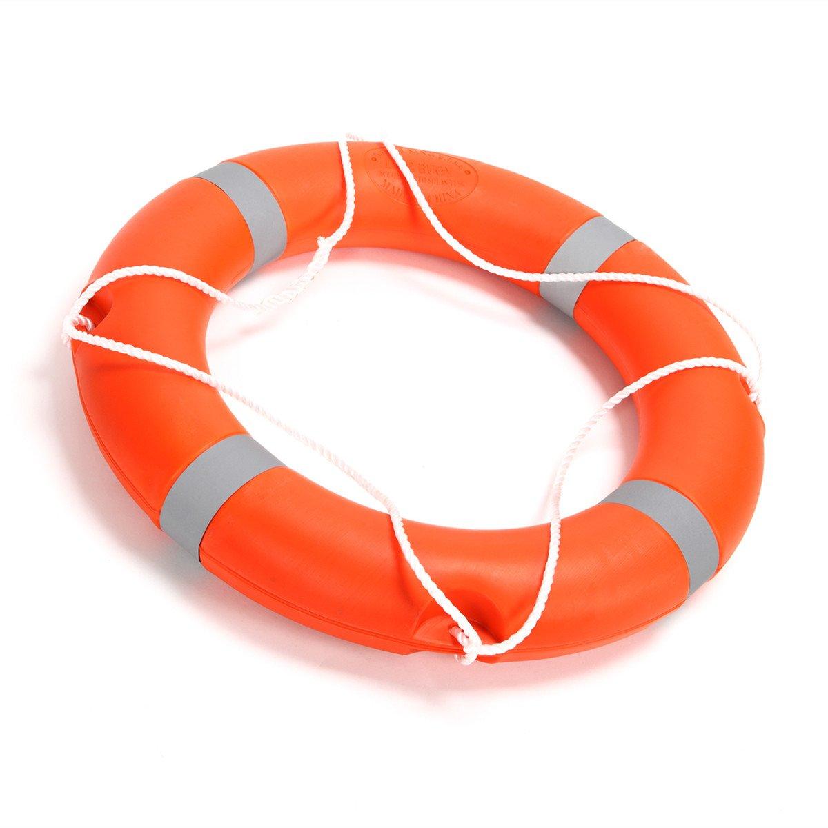 BeautySu. 28'' Diameter Professional Adult Foam Swim Ring Buoy Orange Lifering with White Bands by BeautySu. (Image #5)