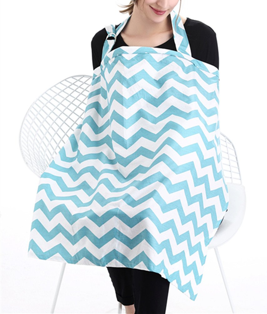 EsTong BreastFeeding Nursing Cover Breathable Cotton Privacy Adjustable Feeding Cover Black