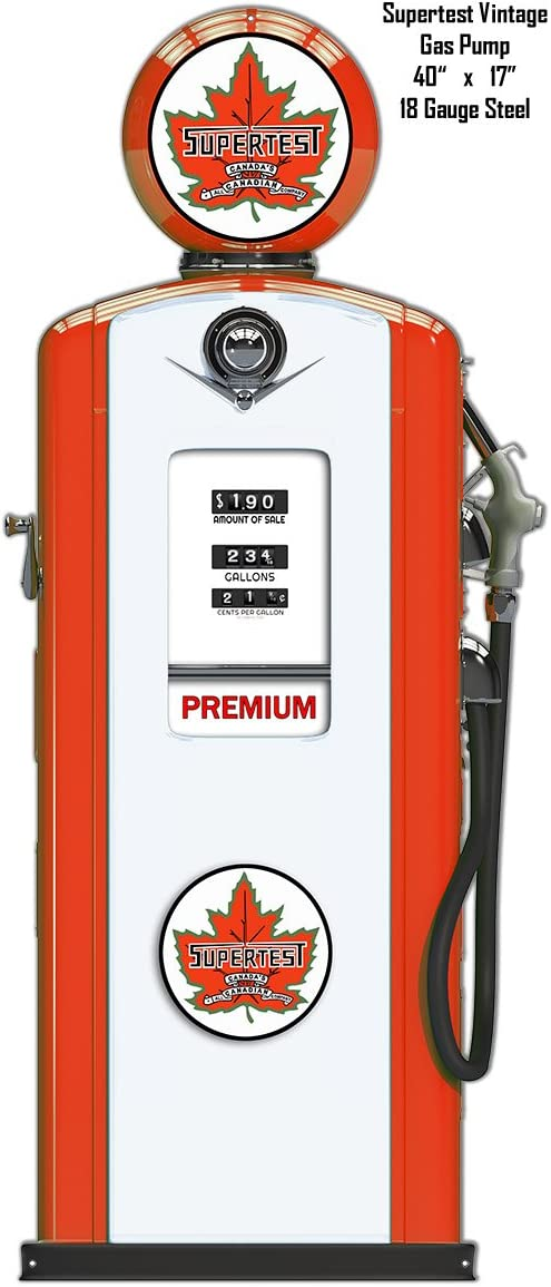 Supertest  Gas Oil gasoline sign round . FREE shipping any 8 signs