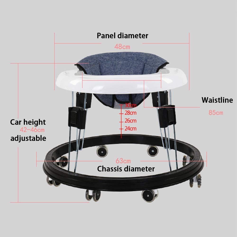 FLWVDFG Andador Beb/éS 7-18 Meses Kit Plegable para Beb/éS con Ruedas Antivuelco Mute Wheel con Pasos