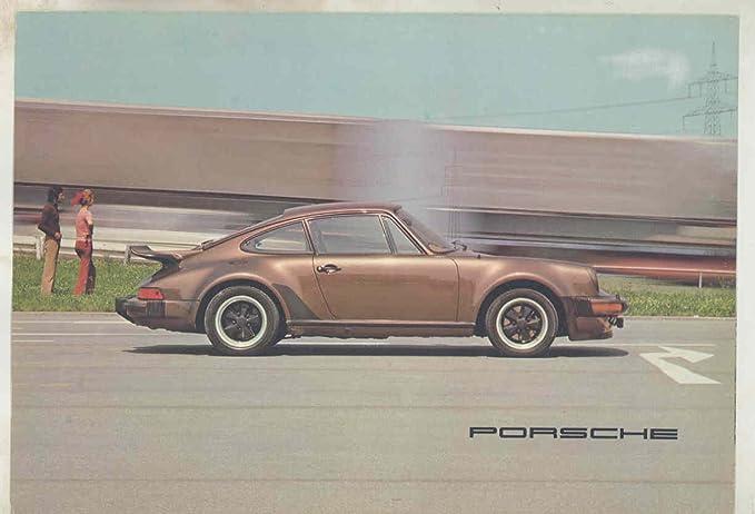 1977 Porsche 911 Carrera 3.0 930 Turbo European Brochure Poster German
