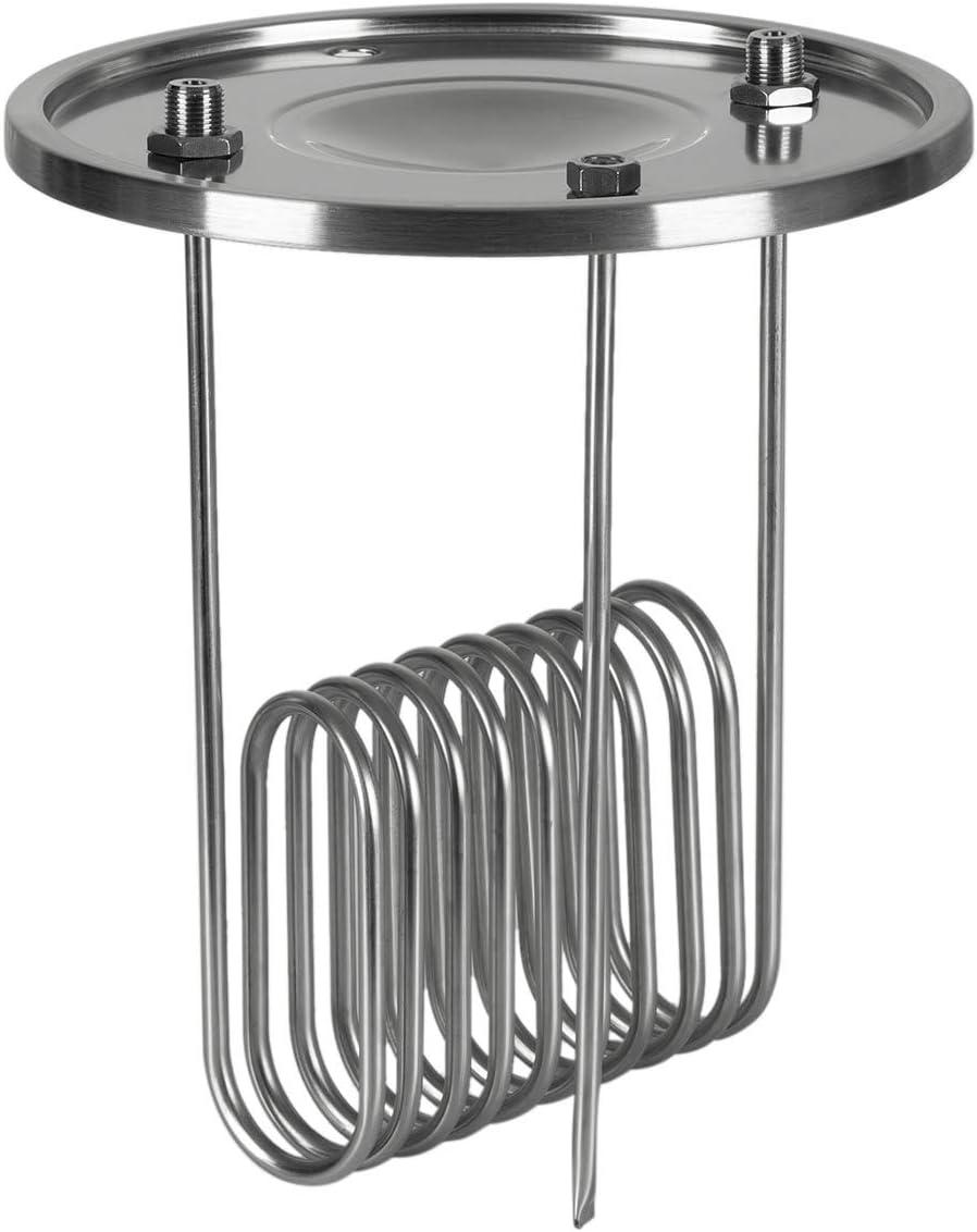 Klarstein Gärkeller - Tapa refrigeradora, Accesorio para cuba macerado Gärkeller, 3 piezas: tapadera, espiral refrigeradora y sensor, Airlock: tapadera hermética, Espiral sumergible, Acero 304