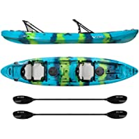 Vibe Kayaks Yellowfin 130T 13 -Foot Tandem Sit On Top Kayak 2 3 Person Package - Includes 2 Hero Seats 2 Paddles