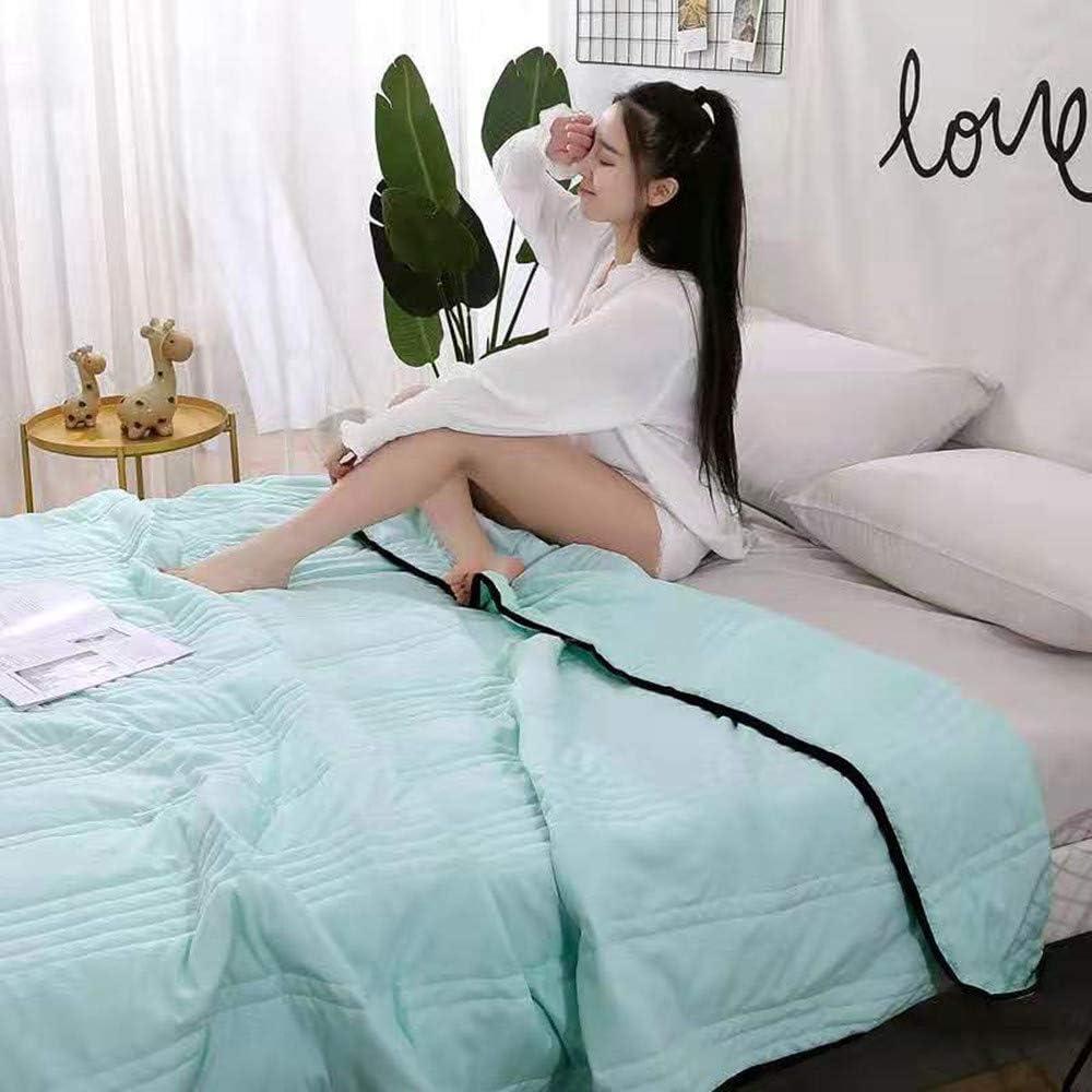 DAPAIZI Coton D/ét/é Couette Couette Dortoir Mince Couette Lavable Lumi/ère Et Cool Unique Double /étudiant Famille-Blanc Couette Lit. Light Pink,150 * 200cm