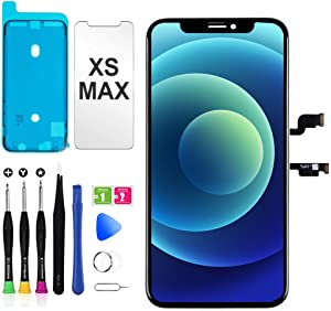 for iPhone Xs Max Screen Replacement, Touch Screen Display LCD Digitizer iPhone Xs max Frame Assembly Repair Tools Compatible with Model A1921, A2101, A2102, A2103, A2104