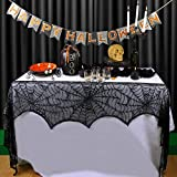 AerWo Halloween Decoration Black Lace Spiderweb