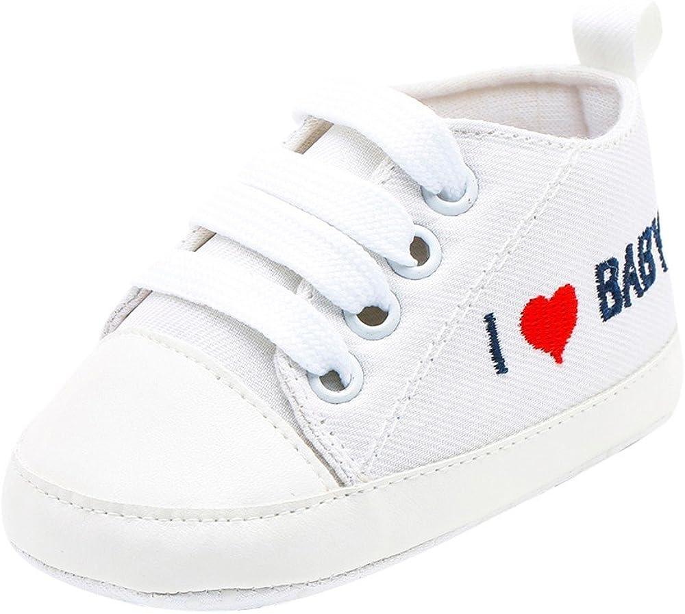 ALIKEEY  Bebé Niño Recién Nacido  Chicas Chicos Corazon  Carta Imprimir Sólidos   Casual Zapatos De Suela Suave