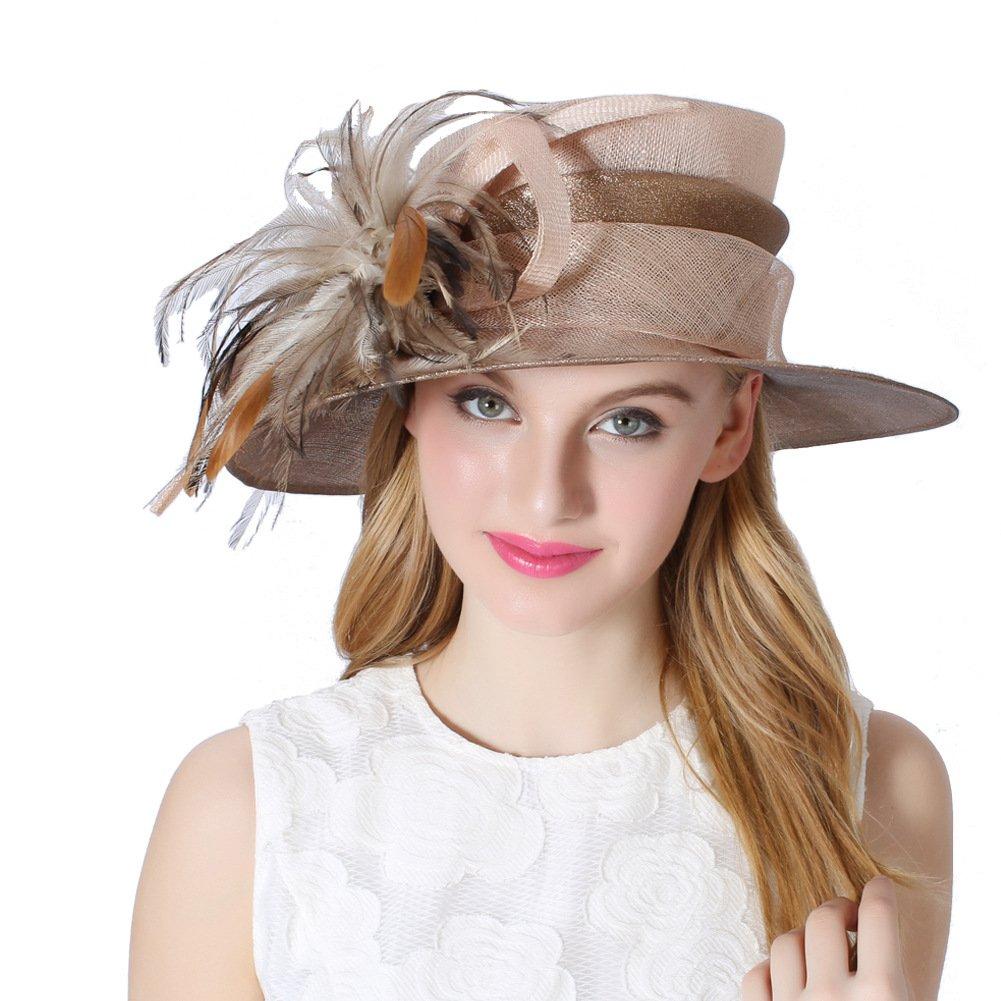 Koola Damen Hochzeit Rennpferd Rennen Tee-Party Sonnenhut Derby-Hut Kirche-Hut