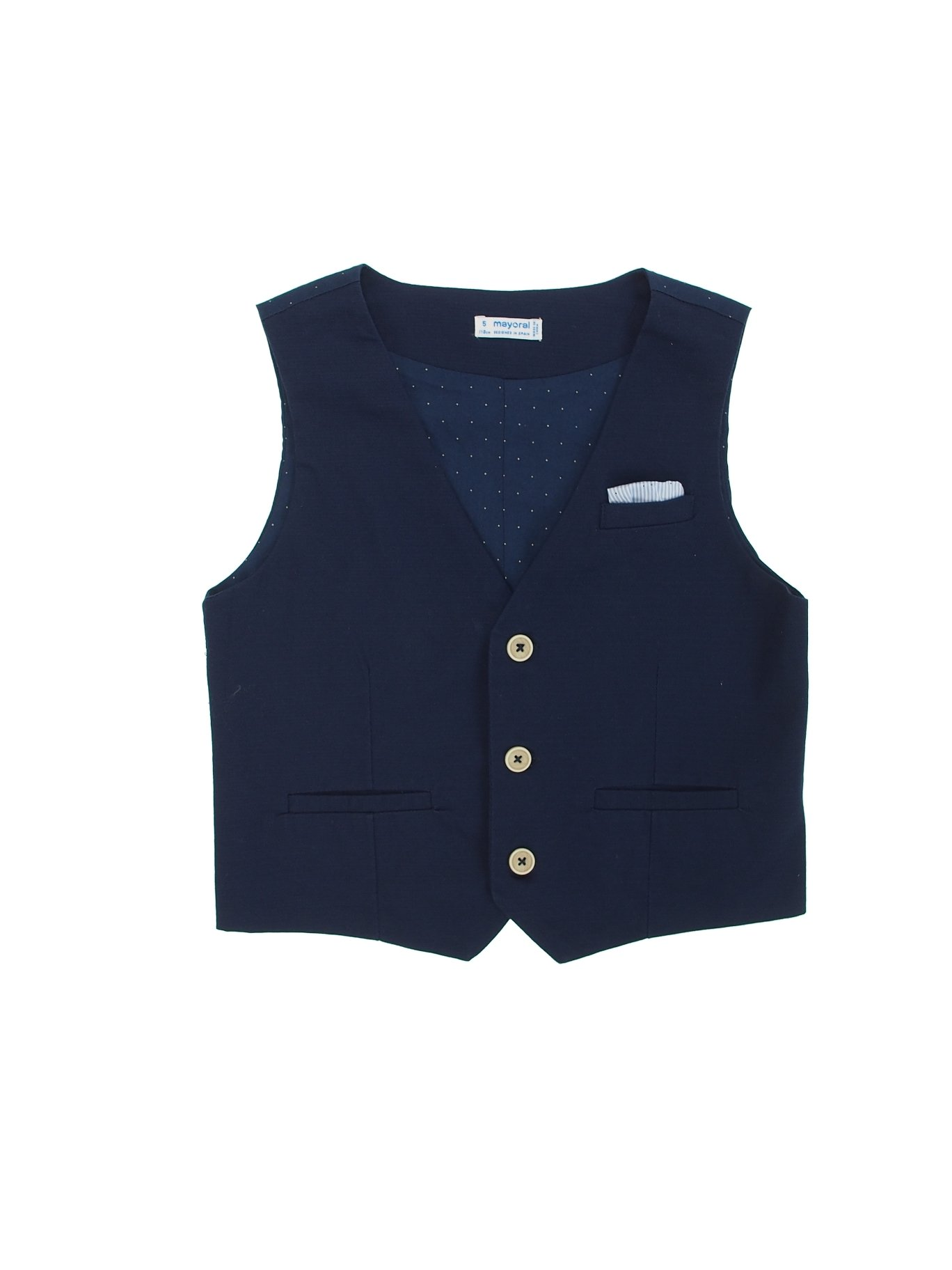 Mayoral 28-03444-054 - Flat Stretchy Vest for Boys 8 Years Blue
