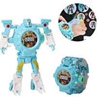 Transform Toys Robot Watch, 3 In 1 Projection Kids Digital Watch Deformation Bots Toys,Creative Educational Learning Xmas Toys For 3-12 Years Old Boys Girls Gifts (A) (B)