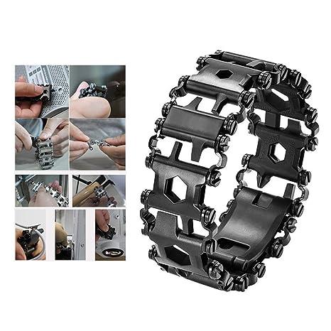 Multifunctional Wearable Survival Bracelet Multi-Tool 29 in 1 Stainless Steel