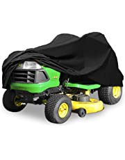 "Deluxe Riding Lawn Mower Tractor Cover Fits Decks up to 54"" - Black - 190T Polyester Taffeta PA Coated Water and UV Resistant Storage Cover"