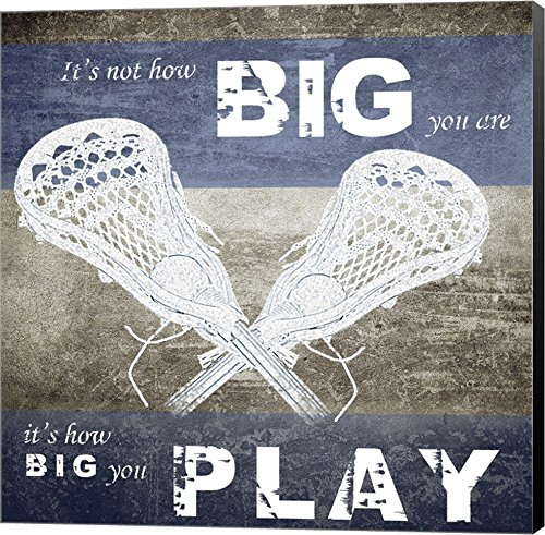 How Big You Play by Sports Mania Canvas Art Wall Picture, Museum Wrapped with Black Sides, 16 x 16 inches