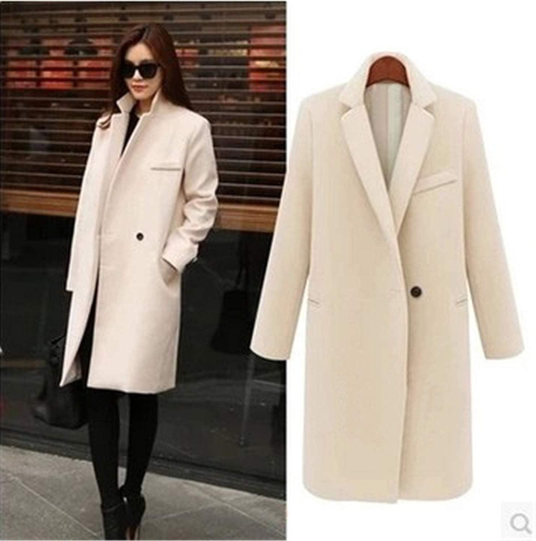 Beige No Cotton Perfectme Outerwear Winter Coat Women Warm CottonPadded Wool Coat Long Women's Cashmere Coat Z1225