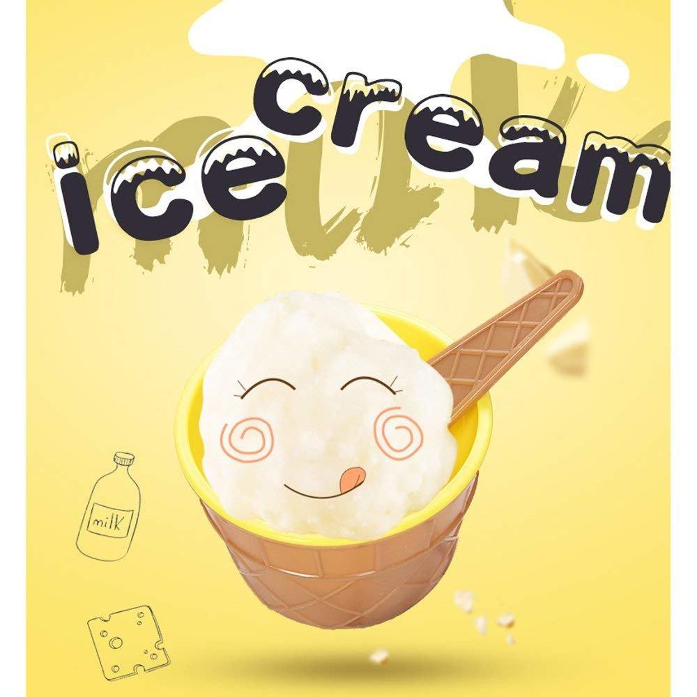 Kaimeng Ice Cream ciotole plastica coppe gelato Frozen yogurt con cucchiaini da dessert frutta ciotole per festa set da 6