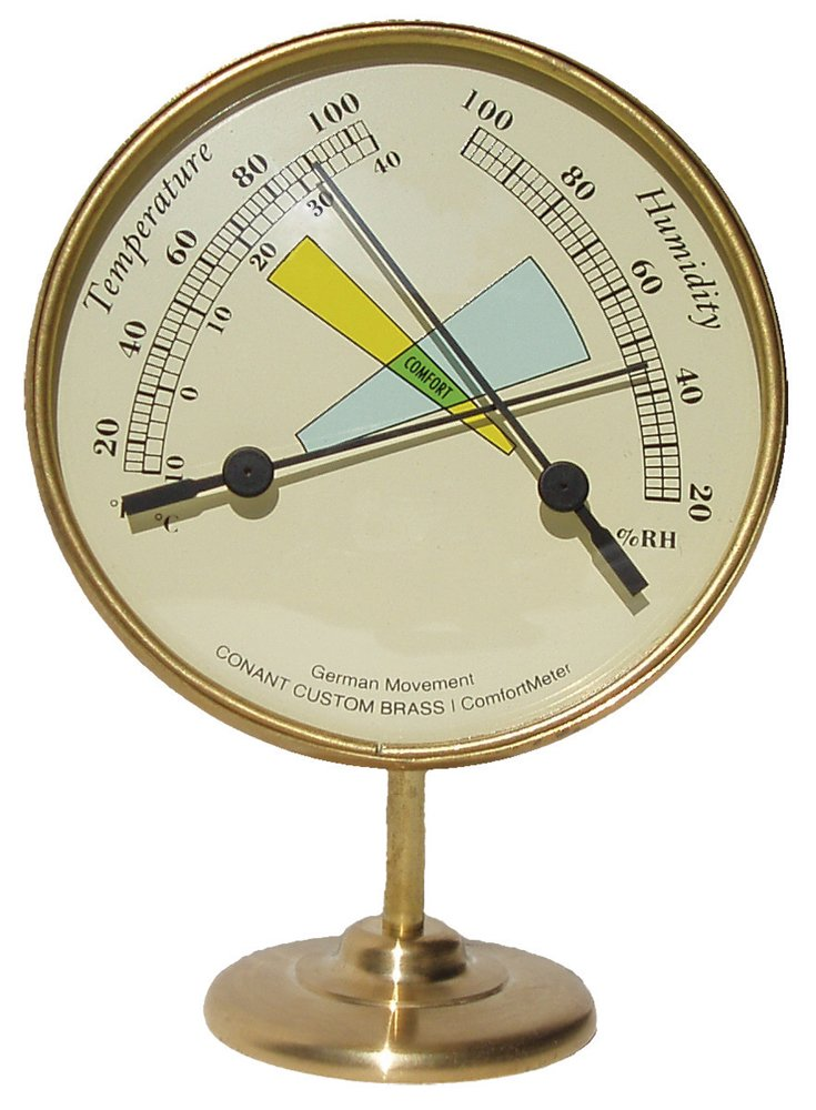 Conant Custom Brass COMF1 ComfortMeter Temperature and Humidity Control