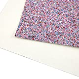 """9 pcs 8"""" x 13"""" (20cm x 34cm) Colorful Mixed Color Glitter Fabric Thick Canvas Back Craft For Handmade DIY Hair Bows Mobile Phone Shell And So On (9 pcs colorful glitter)"""