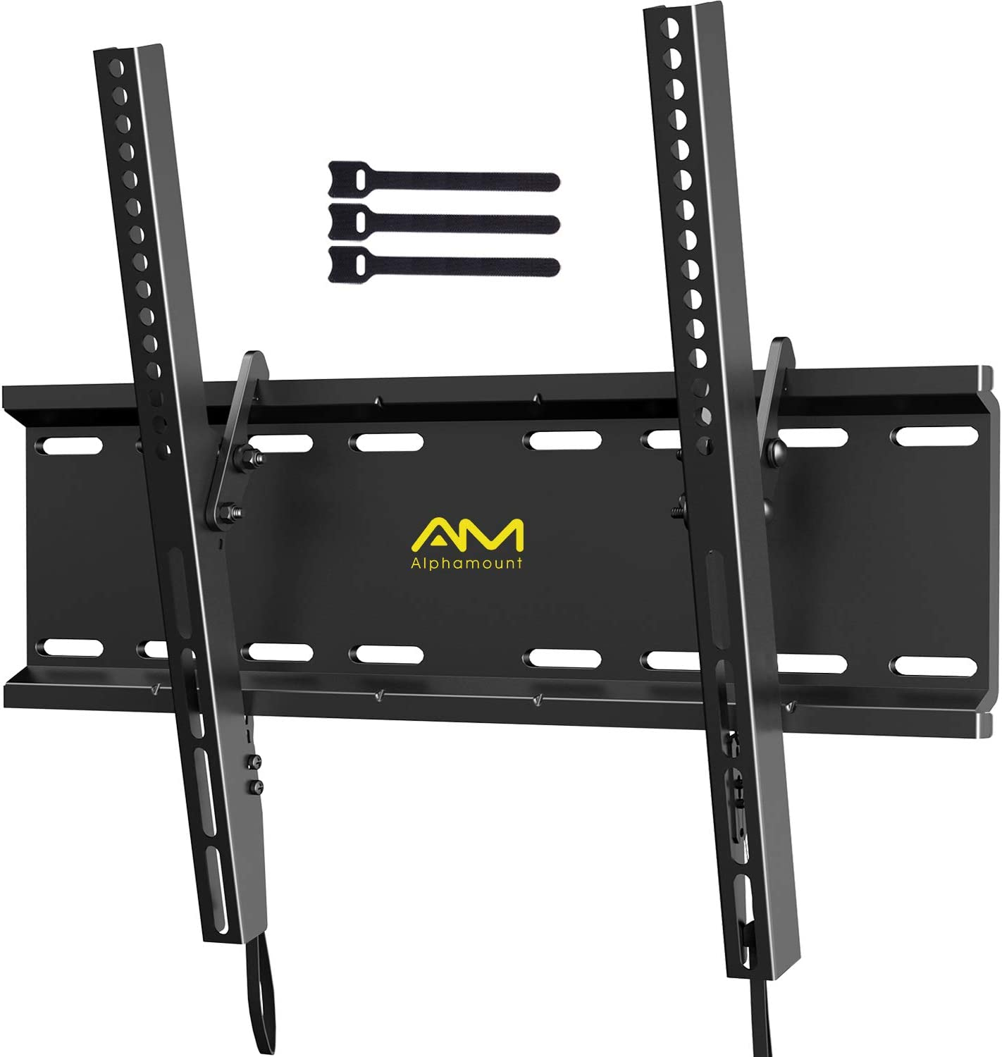 Amazon Com Am Alphamount Tilting Tv Wall Mount Bracket For 23 55 Inch Led Lcd Oled Flat Screen Curved Tvs Low Profile Tv Wall Mount Holds Up To 115lbs Easy Install With All Hardware Included Max Vesa