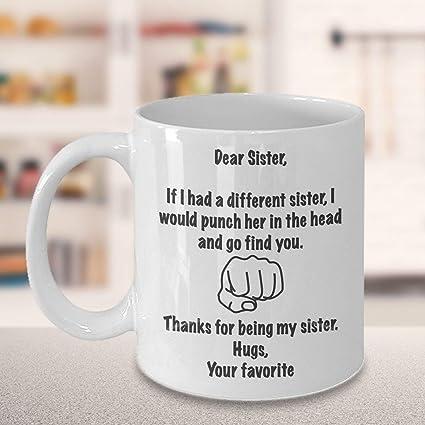 Amazon Sister Coffee Mug Gifts Gift For Birthday