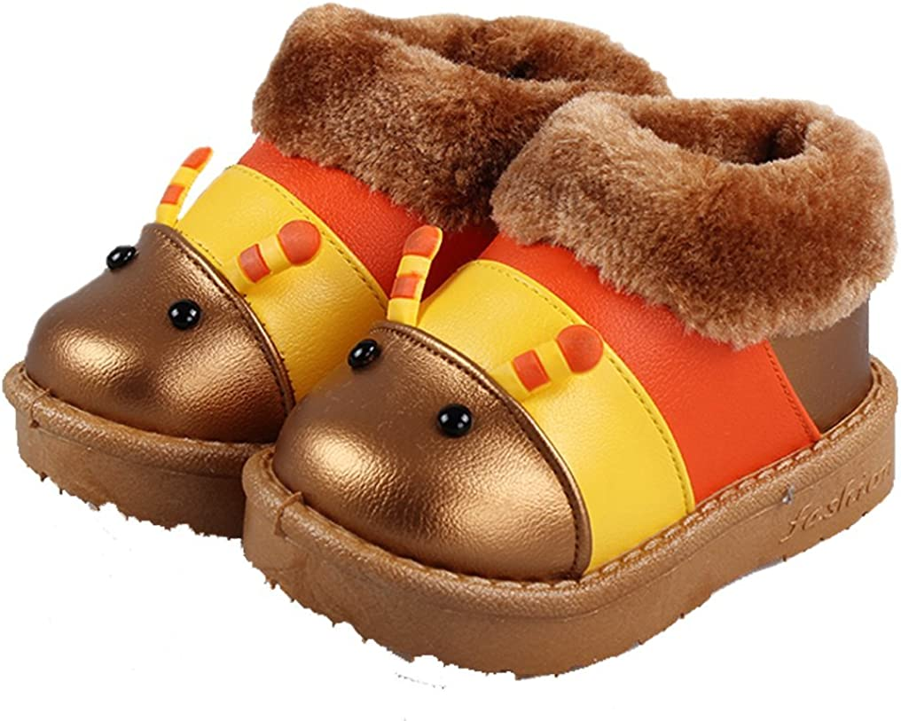 Cattior Toddler Little Kid Cartoon Pattern Cute Warm Baby Snow Boots Kids Shoes