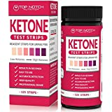 Keton Test Strips for Testing Ketosis Levels in 15 Seconds Using Urinalysis. Accurate Results to Guarantee You Lose Weight & Feel Great on a Ketogenic, Diabetic, Paleo or Low Carb Diet-125 Strips
