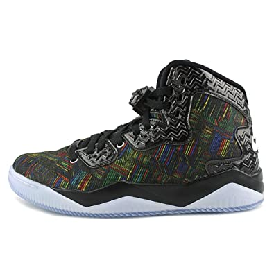 online retailer f4553 eaf5d Amazon.com   Jordan Men Air Spike Forty BHM (Black White Voltage Green)    Fashion Sneakers