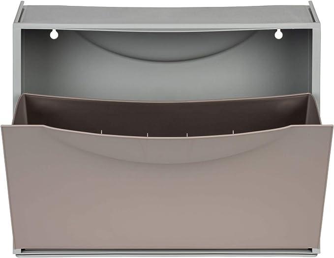 Grau Braun Erweiterbar robust multifunktional. 9 Paar Schuhe DREI Schuhkipper f/ür insgesamt ca Kreher XL Schuhschrank aus Kunststoff in Taupe abwaschbar