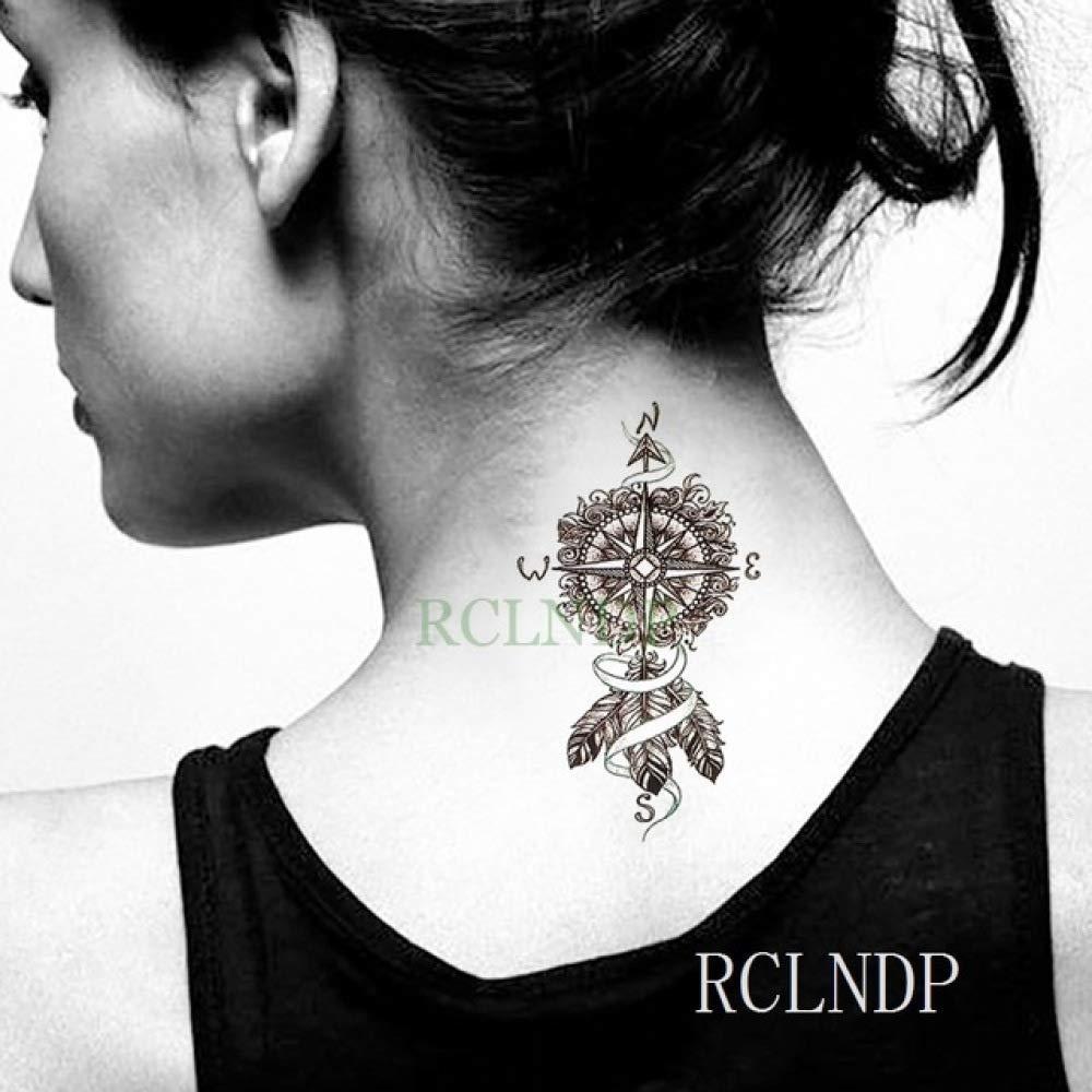 Handaxian 5pcs Etiqueta engomada del Tatuaje de Lotus pies ...