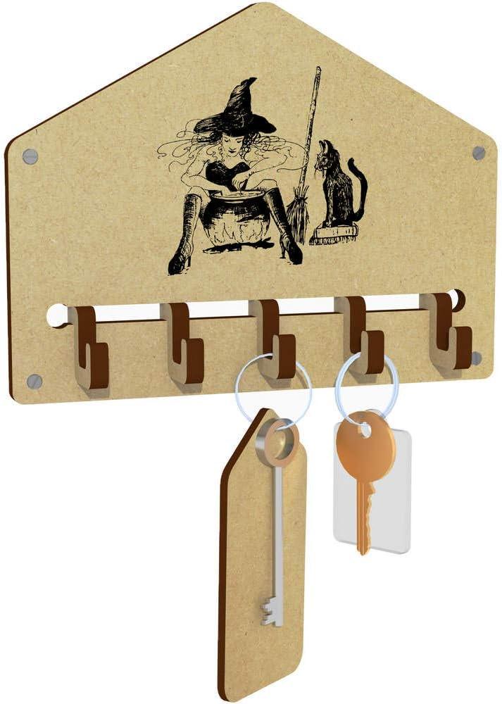 Azeeda Witch /& Familiar Wall Mounted Key Hooks WH00011447 Holder