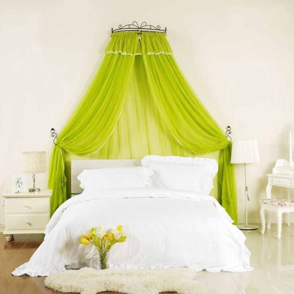 暗号化された蚊帳,クラウン プリンセス ベッド キャノピー 寝室のための装飾的なドレープ金属の王冠が付いているコートベッドのカーテン-d