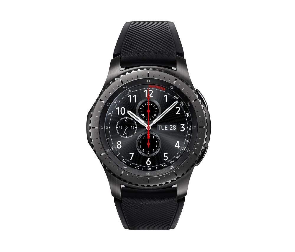 SAMSUNG GEAR S3 FRONTIER Smartwatch 46MM (Bluetooth Only) - Dark Grey (Renewed) by Samsung