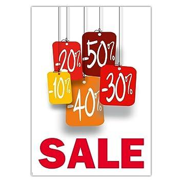 Preisschilder Schilder Plakate 10 Stück Sale Prozentwerte Din A3