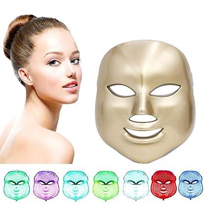 7 Color Fotón LED Mascarilla Eléctrica Therapy LED Máscara de la Rejuvenecimiento Belleza Facial Antienvejecimiento Piel Sana, Anti Envejecimiento, ...
