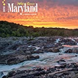 Maryland, Wild & Scenic 2018 12 x 12 Inch Monthly Square Wall Calendar, USA United States of America Southeast State Nature (Multilingual Edition)