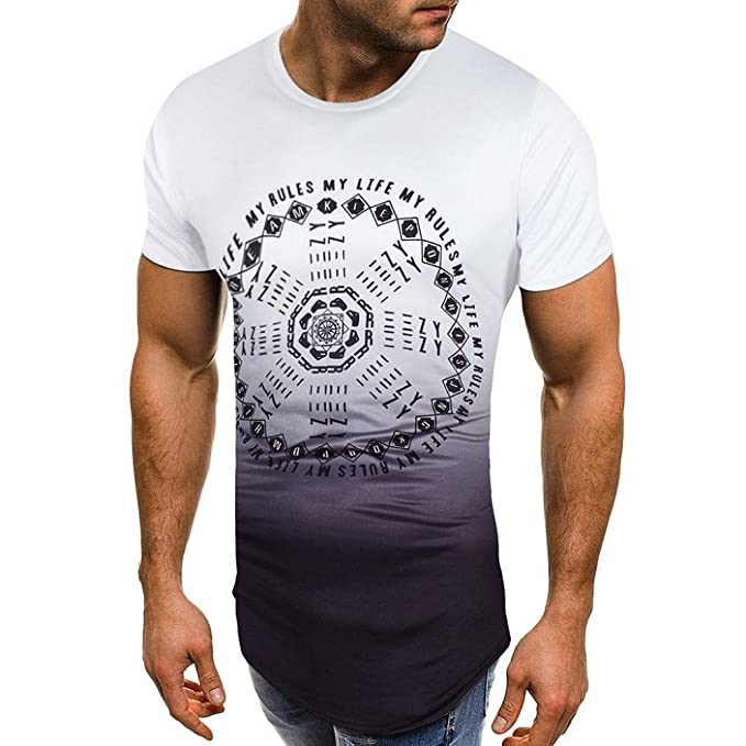 VENMO Camisetas Hombre Camisas Hombre,Tops Hombre,Blusa Hombre,Hombres Slim Fit Camisetas,Camiseta de…