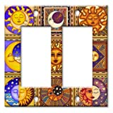 Art Plates - Celestials Theme Wall Plate - Double Gang Decora
