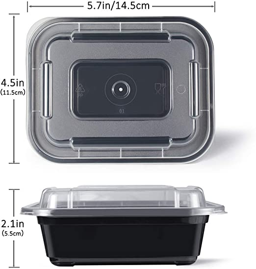 Amazon.com: Teivio 40 unidades de 12 oz pequeños ...