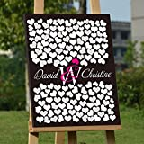 Personalized Wedding Sign In Guest Book Black Board Canvas Alternative Guestbook Sign Custom Wedding Guest Book Gift Wedding Accessory Wedding Favor for Bridal Shower Anniversary Gift Ready to Hang