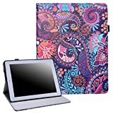 ipad 3 case vintage - HDE New iPad 9.7 Inch 2017 / iPad Air 2 / iPad Air Case - Leather Folio Cover Slim Fit Smart-shell Multi-Angle Vintage Stand for iPad 9.7
