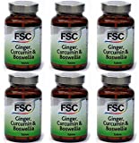 (6 PACK) - FSC - Ginger Curcumin & Boswellia | 120's | 6 PACK BUNDLE