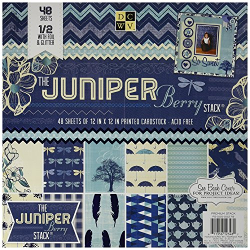 (Die Cuts With A View 48-Sheet Premium Stack, 12-inches by 12-inches, Juniper Berry)